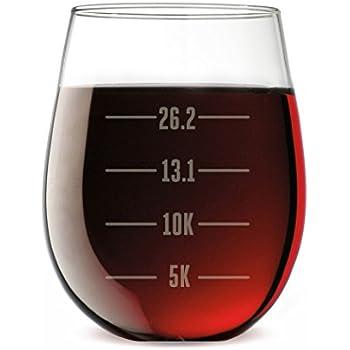 19ddfa2e9 Amazon.com  Swim Bike Run Checklist Engraved Wine Glass