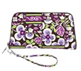 Vera Bradley Zip Around Wristlet in Plum Petals