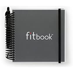 Fitlosophy Fitbook: Fitness Journal and Planner for Workouts, Weight Loss and Exercise, Black Single (12-Week)