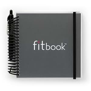 Fitlosophy Fitbook: Fitness Planner and Food Journal, Black Single (12-Week)