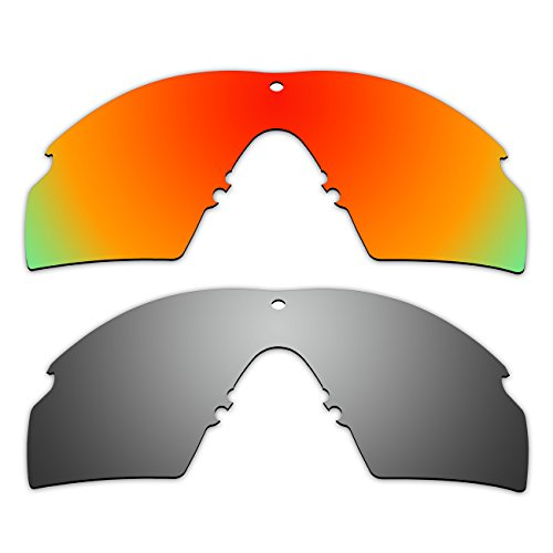 2 Pair ACOMPATIBLE Replacement Polarized Lenses for Oakley Industrial M Frame 2.0 Sunglasses OO9213 Pack - Sunglasses 2 Polarized Oakley M Frame