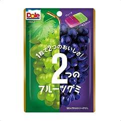 【グミの新商品】不二家 ドール2つのフルーツグミ(グレープ&マスカット) 1箱(10袋)