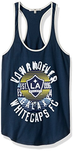 MLS Los Angeles Galaxy Women's Women's Ringer Tank Top, Medium, Non/Sun
