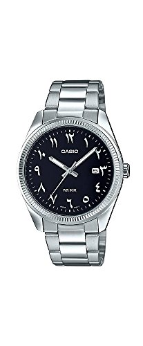 Casio MTP1302D-1B3V Men's Stainless Steel Black Easy Reader Dial (Arabic-Indic) Watch