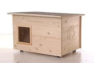 Gato Caseta - Gato con calefacción, Suelo Y paredes wärmegedämmt: Amazon.es: Productos para mascotas