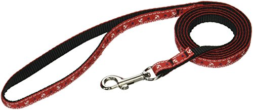 Leash Nylon Anchors Ribbon (Mirage Pet Products Anchors Nylon Ribbon Leash for Pets, 3/8-Inch by 4-Feet, Red)
