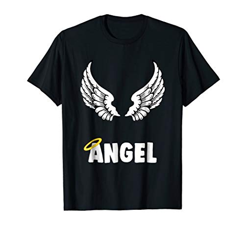 Couple Matching Halloween Costumes Angel T-shirt ()