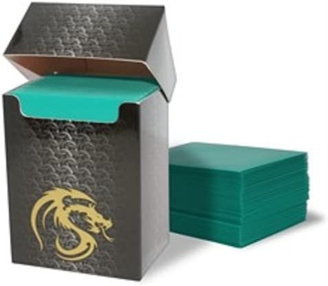 (1) Teal Bcw Deck Guard Pack - Trading Card Sleeves - 80 Sleeves Per Pack - Bcw-Dgm80-Tel