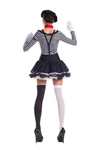 Fancy Costume Black Mesmerizing Dress Mime white 5qBwAvf