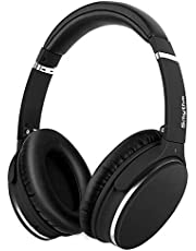 Noise Cancelling Headphones Real Over Ear,Wireless Lightweight Srhythm Durable Foldable Deep Bass Hi-Fi Stereo Bluetooth Headset with Mic and Wire for TV, PC, Cell Phone- Low Latency