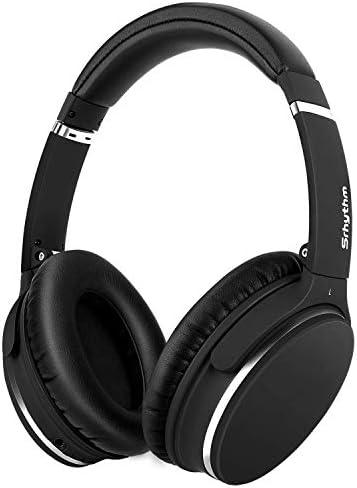 [Gesponsert]Noise Cancelling Kopfhörer,Leicht,Faltbar,Kabellos,Srhythm NC25 Over Ear ANC Kopfhoerer Bluetooth mit 40mm Treiber,Sprachsteuerung,Eingebaut Mikrofon,HiFi,180g für iOS Android TV PC (Matt-Schwarz)