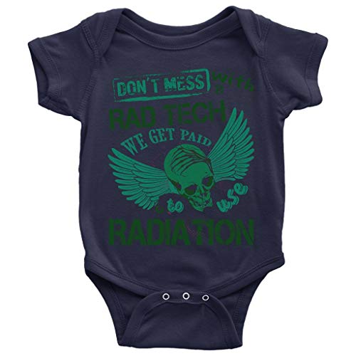 Cool Rad Tech Baby Bodysuit, We Get Paid To Use Radiation Baby Bodysuit (NB, Baby Bodysuit - Navy) ()