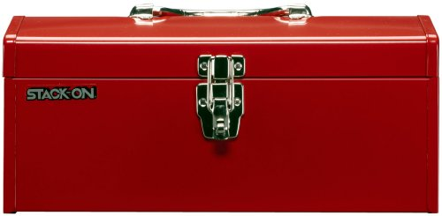 Red Tool - Stack-On R-516-2 16-Inch Multi-Purpose Steel Tool Box, Red