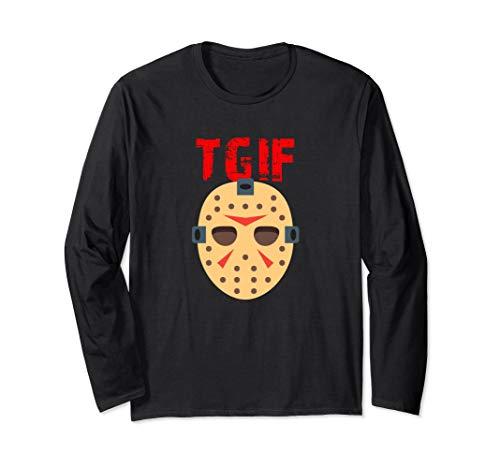 TGIF Thank God It's Friday Halloween Scary Movies LS Tee ()