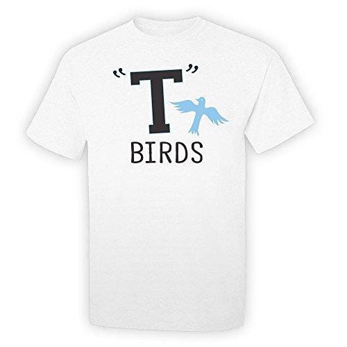 Pop Threads T Birds Gang Logo White XL Short Sleeve T-Shirt