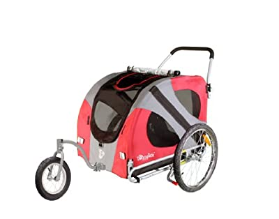 DoggyRide Original Dog Jogger-Stroller, Urban Red by Dutch Dog Design
