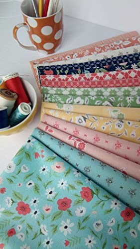 Garden Variety Lella Boutique Vanessa Goertzen Moda Fabrics ~ 15 Fat Quarters Bundle ~ 3.75 Yards