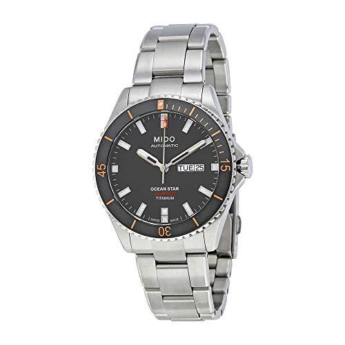 Automatic Titanium Mens Watch - Mido Ocean Star Captain V M026.430.44.061.00 Grey / Silver Titanium Analog Automatic Men's Watch