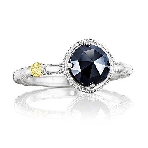 (Tacori SR13419 Classic Rock Sterling Silver Black Onyx Simply Gem Ring (6))
