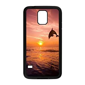 DIY Sunset Phone Case, DIY Case Cover for samsung galaxy s5 i9600 with Sunset (Pattern-4)