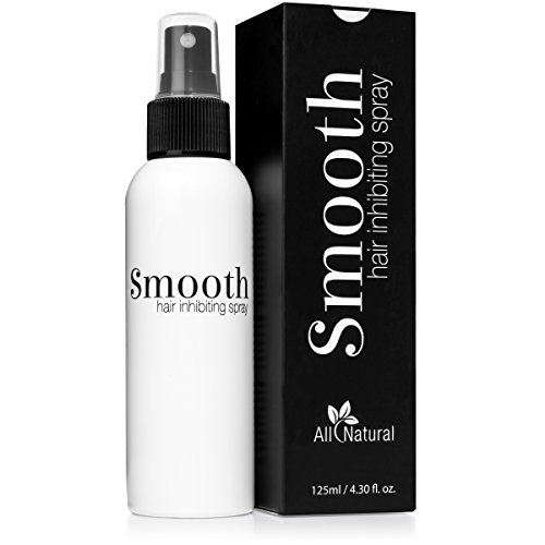 Smooth - Best All Natural Hair Growth Inhibitor Spray for Use After Removal from Body or Face - Permanently Minimizes Regrowth for Women and Men - Safe for Sensitive Skin