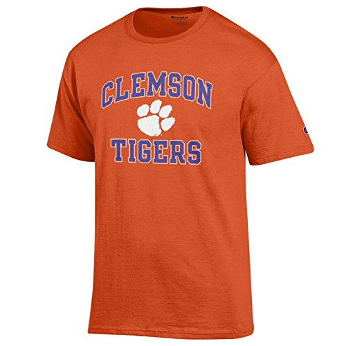 Champion NCAA Men's Shirt Short Sleeve Officially Licensed Team Color Tee, Clemson Tigers, XX-Large