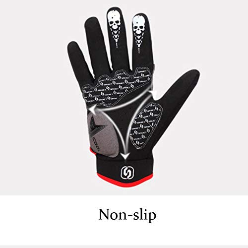 AINIYF Full Finger Motorcycle Gloves | Men's And Women's Mountain Bikes Sports Gloves Ankle Spring And Autumn (Color : White, Size : M) by AINIYF (Image #5)