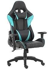Futurefurniture® Gaming stoel, gaming stoel, gaming stoel, gaming stoel, met hoofdsteun en lendenkussen, kleur: blauw