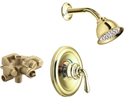 Moen T3124P-3520 Monticello Moentrol Shower Trim Kit with Valve, Polished Brass by Moen