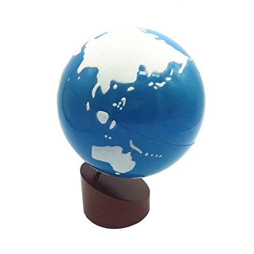 Baby Toys Montessori Earth Globe Plastic and Wood Material L