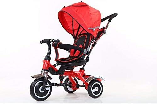 ATAA Baby Tricycle /évolutif 5 en 1 Bleu Grandes Roues avec Pneu en Gomme