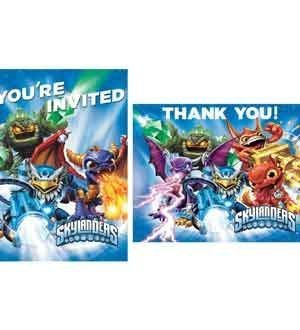 Skylander Invitation Thank You Notes 8 [Contains 2 Manufacturer Retail Unit(s) Per Amazon Combined Package Sales Unit] - SKU# 4988514]()