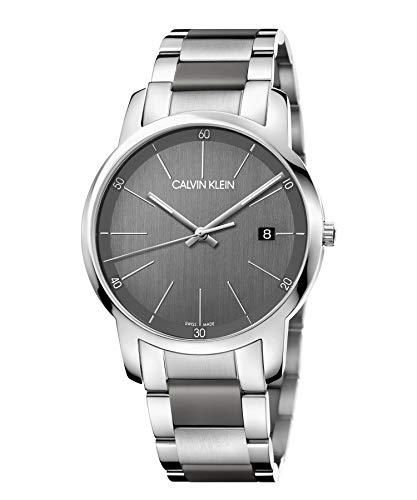Calvin Klein Unisex Adult Analogue-Digital Quartz Watch with Stainless Steel Strap K2G2G1P4