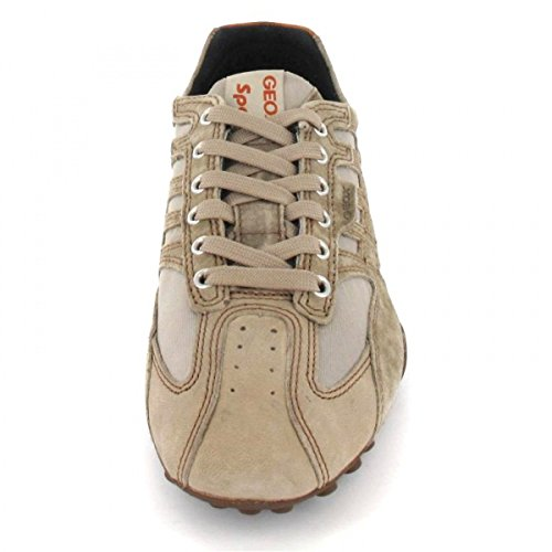 arena arenoso deportivas zapatillas de deporte de cuero de los zapatos de los hombres de GEOX SERPIENTE U6207D Grigio