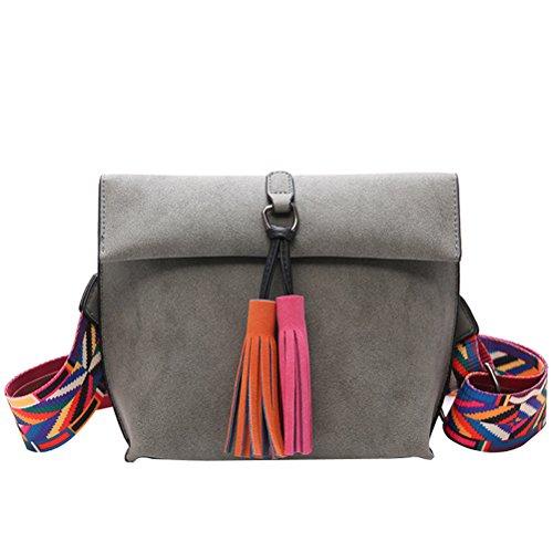 Crossbody Leather PU Colorful Yellow Donalworld Purse Strap Dark Women Bag For Bag qS4TxnAR