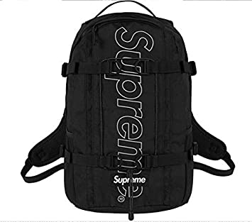 competitive price 444ca 37f44 Amazon.com   SupremeNewYork Supreme Backpack Book Bag Black FW18  Fall Winter Brand New 100% Authentic Real Rare Designer   Casual Daypacks