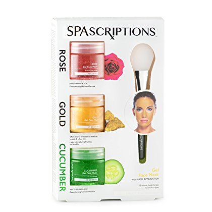 Spascriptions Rose, Gold & Cucumber Gel Face Mask, 1.7 Oz Ea