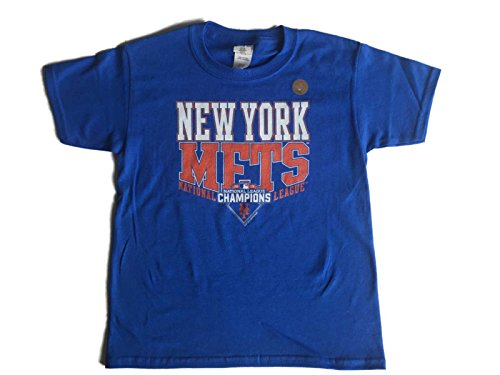 League Champions T-shirt (New York Mets SAAG YOUTH Blue National League Champions 2015 T-Shirt (S))