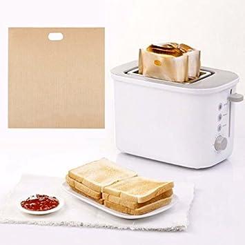 Genérico 3 bolsas de tostadas de tamaño práctico sándwich pan tostado antiadherente tostadora horno microondas bolsas