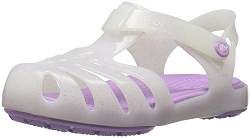 Crocs Girls Isabella Sandal PS Flat, White, 8 M US Toddler