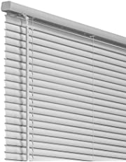 """CHICOLOGY Cordless 1-Inch Vinyl Mini Blinds, Horizontal Venetian Slat Light Filtering, Darkening Perfect for Kitchen/Bedroom/Living Room/Office and More, 32"""" W X 48"""" H, Gray (Commercial Grade)"""