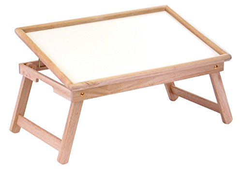 Price comparison product image Wood Breakfast Bed Adjustable Lap Tray / Desk Foldable Legs