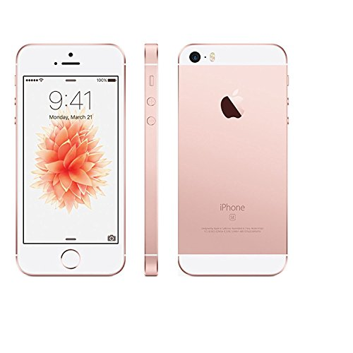 Apple iPhone SE, 64GB, Rose Gold - Fully Unlocked (Renewed)
