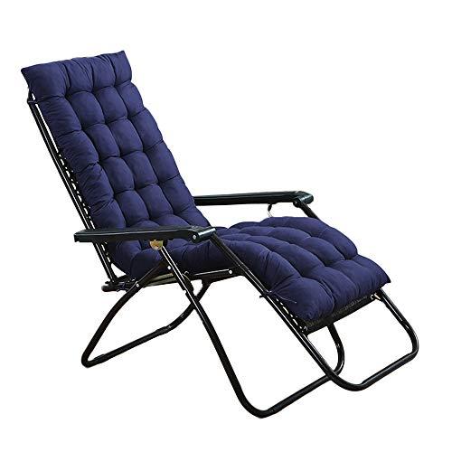 Hootech Chaise Lounge Cushion Patio Chair Cushions Outdoor Mattress 60 Inch for Garden Sun Lounger Recliner Indoor Veranda (Navy Blue)