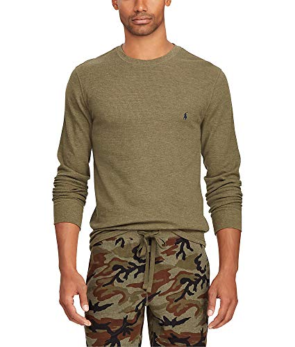 Polo Ralph Lauren Waffle Knit Lounge Shirt, XL, British Olive ()
