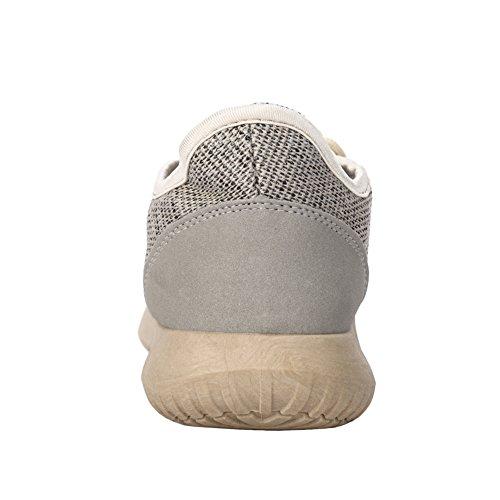 Fereshte Zomer Mannen Vrouwen Unisex Paar Casual Fashion Sneakers Ademende Sportschoenen No. 852 Goud