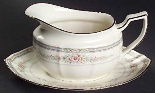 Noritake China Gravy Boat - NORITAKE ROTHSCHILD GRAVY BOAT & STAND. SET OF TWO