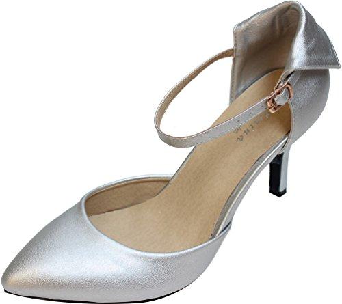 CFP - Zapatos de tacón  mujer plateado