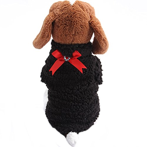 Uniquorn Winter New Pet Cotton Clothing Dog Leisure Four - Legged Clothes Bow Pet Warm Plush Three - Color (How To Make A Scarecrow Mask)