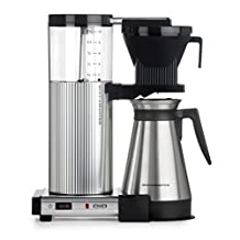 Moccamaster 89912 10-Cup Coffee Brewer with Thermal Carafe, Polished Silver